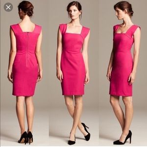 Roland Mouret for Banana Republic hot pink dress